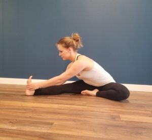 Hurdler Stretch for Hamstrings